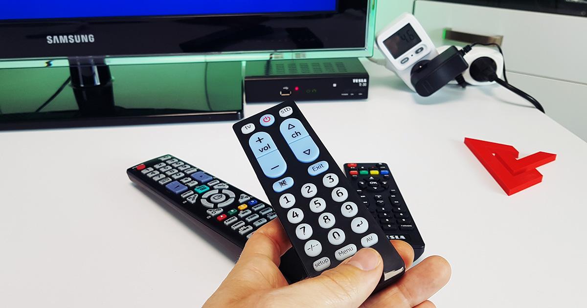 Ovládanie TV a STB jedným ovládačom